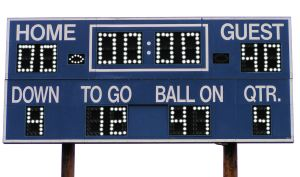 Image result for losing scoreboard
